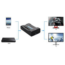1080P Scart To HDMI Upscaler Converter Audio Video Adapter For HD TV DVD Sky Box