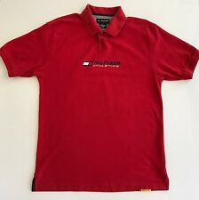 Vintage Tommy Hilfiger Athletics Red Spell out Polo Shirt Mens Size Large L