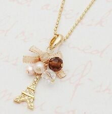 Hot Eiffel Tower Pendant With Necklace Golden Plated Chain Fashion Jewelry