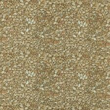 Danscapes Spring Tan Gravel Pebbles Stones Cotton Fabric by the Yard