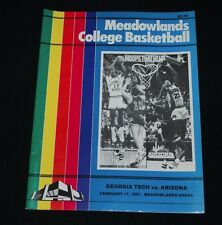 Feb 17, 1991 Meadowlands College Basketball Program-Georgia Tech vs Arizona-NM