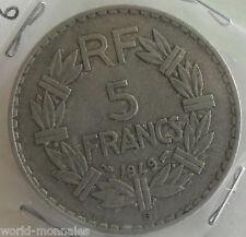 5 francs lavrillier alu 1949 B : TTB : pièce de monnaie française