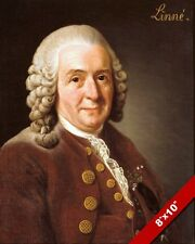 CARL LINNAEUS SWEDISH BOTANIST BIOLOGIST PORTRAIT PAINTING ART REAL CANVAS PRINT