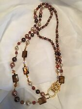 Vintage Kenneth Jay Lane for Avon Lion Head Crystals & Beads Necklace
