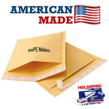 AmPE 250 #0 6.5x10 Kraft Bubble Mailers Padded Envelopes