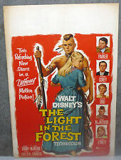 THE LIGHT IN THE FOREST original DISNEY movieposter CAROL LYNLEY/JAMES MACARTHUR