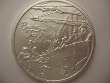 1+.OZ.999 SILVER  COIN DEC 16 1773 BOSTON TEA PARTY AND AMERICAN HEROES + GOLD
