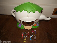 RARE Disney Fairies Tinkerbell house teapot playset figure toy bundle peter pan