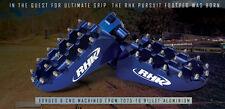 Honda CRF450 R CRF450R 2006 2007 2008 2009 Wide Blue Footpegs Foot Pegs F01-B