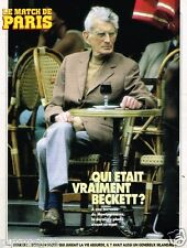 Coupure de presse Clipping 1990  (3 pages) Qui était vraiment Beckett?