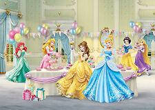 PRINCESSES CELEBRATE Photo Wallpaper Wall Mural CASTLE BALOONS 360x254cm HUGE!