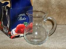 clear crystal etched glass flower vase pitcher  NIB