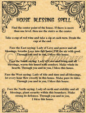 House Blessing, Book of Shadows Spell Page, BOS, Witchcraft, Wicca, like Charmed