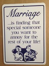 Marriage Sign Gift PVC Street Sign bar man cave 8.5 x12