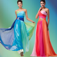 Lang Hochzeitskleid Abendkleid Cocktailkleid Ballkleider Gr:32-34-36-38-40-42-44