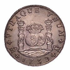 1739 8 REALES SUNKEN TREASURE FROM THE HOLLANDIA WITH COA  #155-526