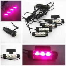 Car SUV Interior Charge Purple Pink 3 LED Floor Decorative Light Atmosphere Lamp