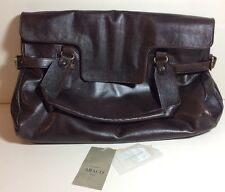 ABACO PARIS LAMB LEATHER PURSE SADDLE BROWN BAG