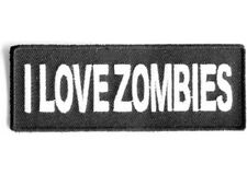 I LOVE ZOMBIES IRON ON PATCH