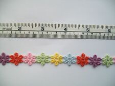 Multi-Coloured Small Daisy Trim - 1m Length