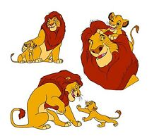 Simba Mufasa Lion King Pack 8x10 Iron on Transfer