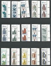 Berlin ** postfrisch aus 1987-1990 komplette Serie 15 Werte - Sehenswürdigkeiten