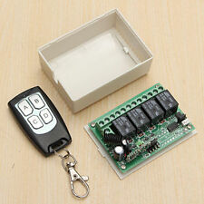 12V 4CH Channel 200M Wireless Remote Control Relay Switch Transceiver + Receiver