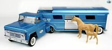 Awesome Vintage 1960 Tonka 'Vista Dome Horse Van' Truck and Trailer with Horses