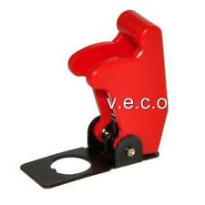 RED FLIP UP AIRCRAFT COVER FOR METAL TOGGLE SWITCH MISSILE RALLY MOTORSPORT