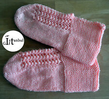"Turkish hand knitted wool slippers traditional "" PATIK """