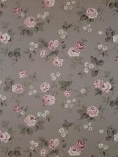 arôme Papier Peint Polaire 623-3 Floral Fleurs rose-gris