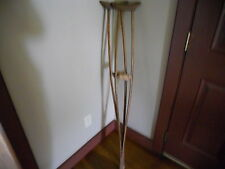 VINTAGE ANTIQUE PRIMITIVE WOOD WOODEN CRUTCHES