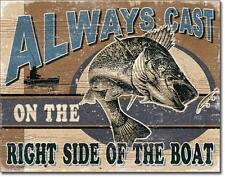 Pesca sportiva pescatore USA Metallo Decorazione Scudo design retrò