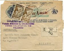 1951 Italia al Lavoro RACCOMANDATA Ind. Dolciaria Salvatore Nuccio Palermo FRAGD