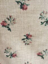 "Waverly Fabric Beige Tan ""Eugenia"" Shabby  Screenprint ~ Roses Floral ~10 Yards"