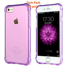 iPhone 7 Plus Cover Case Handphone Case TPU Silicon Case Twin Pack Promo(Purple)