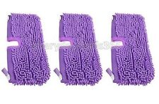 Shark Steam Mop Pocket Coral Compatible Pads Covers S2901 S3901 S3455 - 3 Pack