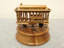 """Wooden San Francisco Cable Car Music Box Plays """"I Left My Heart..."""" (#GT9-L3)"""