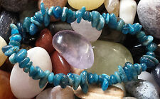 BLUE APATITE CHIP BEAD BRACELET - SUPPRESS APPETITE