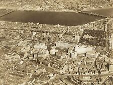 PHOTOGRAPHY SEPIA AERIAL CITY BOSTON BACK BAY ART POSTER PRINT LV3687
