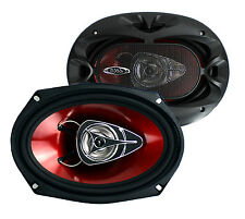 "2) New BOSS Chaos CH6920 6x9"" 2-Way 350W Car Coaxial Audio Speakers Stereo Red"