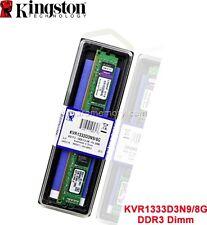 8 GB (1 X 8GB) DDR3-1333 CL9 240 PIN DIMM Kingston SDRAM Memory KVR1333D3N9/8G
