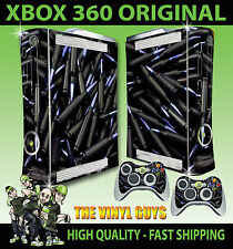 XBOX 360 BLACK BULLETS SHELLS AMMO CONSOLE STICKER SKIN NEW & 2 PAD SKINS