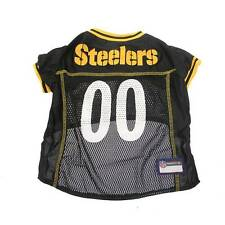 NEW Pittsburgh Steelers Official Black Mesh NFL Dog Jersey Size LARGE
