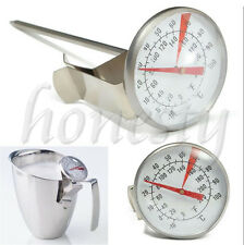 Stainless Steel Coffee Milk Frothing Candy Liqued Probe Thermometer Clip Kitchen