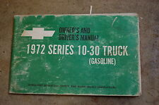 1972 CHEVY CHEVROLET 10-30 TRUCK GAS Owner Operator Operation Maintenance Manual