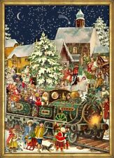 Victorian Christmas Train German Advent Calendar Countdown Made in Germany New