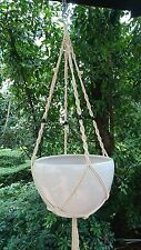 Plant Hanger Macrame Cotton 4 Legs 48 Inches For Pots with size of 10-12 inches