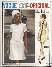 Vintage années 60 vogue paris original 2360 pierre balmain robe-sewing pattern B40