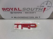 Toyota Tacoma TRD Red Emblem Badge Genuine OEM OE